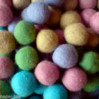 Pom Pom Handmande Felt Beads Balls100%Woolen 2cm Nursery Craft Supplies Ball