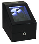 Dual Watch Winder | Diplomat Phantom LED Lit Double Watch Winder with storage (B