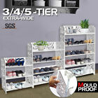 White Chic Hollow Out 3/4/5 Tiers Shoe Rack Stand Storage Organiser Shelf Unit