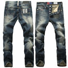 New men 's jeans European station fashion tide straight large size jeans