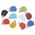 The Bead and Button Box -  Randomly Mixed Hedgehog Design Wooden Buttons 25x16mm
