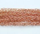 ROSE GOLD FILLED FLAT CABLE CHAIN.Link 1.9 x 2.3 mm Unfinished Bulk Chain