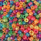 Glitter Pony Beads, All Colours, Multi Listing 100/500/1000, Dummy Clips