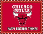 Chicago Bulls - Edible Birthday Cake Topper OR Cupcake Topper, Decor on eBay