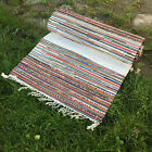 Handmade Cotton Rug - Long Runner -MULTICOLOR - , thick 100% recycled cotton