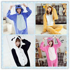Hot New Fancy Dress Cosplay Onesie Adult Unisex Hooded Pyjamas Animal Sleepwear