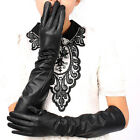 """17.7"""" 19.6"""" Women's Leather Long Evening Gloves / Opera Party Gloves"""