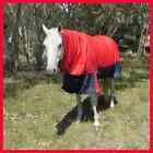LOVE MY HORSE 600D 200g 5'6, 6'9 Ripstop Winter Combo Waterproof Rug Red