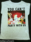 PRIMARK DISNEY ALICE IN WONDERLAND YOU CAN'T PARTY WITH US T SHIRT TEE SHIRT NEW