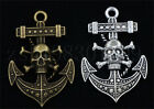 2/8/40pcs Tibetan Silver Pirate ships anchor Jewelry Charms Pendant 31x54mm