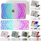 Hard Rubberized Paint Logo Cut Case+Matched Pattern Key cover for Macbook Laptop