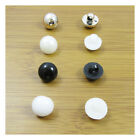 50 DOME ACRYLIC BUTTONS 11mm DRESSMAKING HABERDASHERY *3 COLOURS* SEWING UK