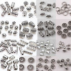 100pcs Titbetan Silver Plated Loose Spacer Beads Charms Jewelry Making DIY