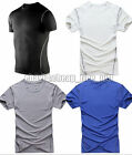 Men Contrast Wickabble Sports Training Breathable Short Sleeve T Shirt Top Gift