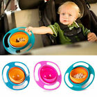 Baby Kid Food Spilling Bowl Dishes 360 Rotate No Spill Bowl Dish-US SELLER