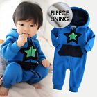 "Vaenait Baby Clothes Boy Fleece Hooded Jumpsuit Outwear ""Lighting Blue"" 6-24M"