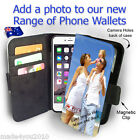 Personalised COLLAGE PHOTO Phone Wallet Case Card Slots PU Leather customised