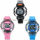 LED Digital Alarm Day Student Kids Wrist Watch Waterproof Children's Day Gift image
