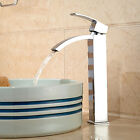 Chrome Brass Tall Bathroom Basin Faucet  Vanity Sink Mixer Tap Single Handle Tap