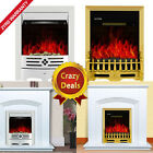 Modern Cream Inset Electric Fireplace Suite Fire Surround Set Complete Package