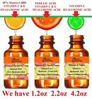 VITAMIN C,E HYALURONIC FACIAL SERUM 10,15,20,25,30%C/ Matrixyl 3000,FERULIC ACID