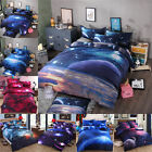 Used, 3D Galaxy Bedding Sets Universe Outer Space Duvet cover Bed Sheet for sale  Shipping to Canada