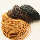 5M/10M/50M/100M Real Genuine Leather craft DIY Necklace Charms Rope String Cord