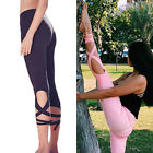 New Women's Sports Gym Yoga Workout Cropped Leggings Fitness Athletic Pants