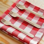 Disposable NATURAL BIRCHWOOD FORKS Party Wedding SILVERWARE SALE $42.6 USD