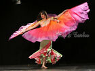 1 pair 2.7m*1.14m detachable 6mm habotai silk belly dance wing=2pcs double veils