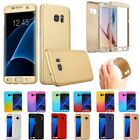 Hybrid 360° Hard Case +Tempered Glass Full Cover For Samsung Galaxy Smart Phones