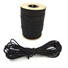 "5/16"" Black Shock Cord Marine Grade Bungee Heavy Duty Tie Down Stretch Rope Band"