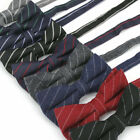 Adjustable Men's 100% Cotton Bow Tie Slim Striped Plain Tuxedo Butterfly Bowknot