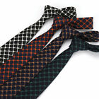 Fashion Mens Cotton Neck Tie 6CM Striped Checks Skinny Tie Wedding Party Necktie