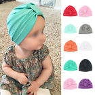 Lovely Baby Girls Boys Toddler Cotton Soft Turban Knot Infant Hat Beanie Cap