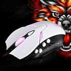 JS-L1 LED USB Wired Optical Game Mouse Adjustable 3200 DPI Laptop 8 Buttons#Y