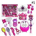 Kids Toys Set Girls Simulative Make Up Cosmetic Cute Crown Princess Pretend Play