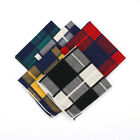 23cm Men's Cotton Pocket Square Plaid Checks Handkerchiefs Wedding Party Hankies