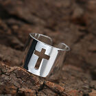Men's Fashion Silver Stainless Steel Gothic Punk Charm Biker Finger Ring Jewelry