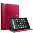 "Folio Leather Smart Cover Case For All-New Amazon Kindle Fire HD 8"" 2018 8th Gen"
