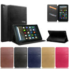 "Folio Leather Smart Cover Case For All-New Amazon Kindle Fire HD 8"" 2016 6th Gen"