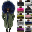 Women Winter Scarf Fur Collar Latest Trendy Puffier Real Raccoon Fur Scarves