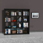 White/Black Bookcase Rack Display Unit 16Tier Square Storage Office Living Room