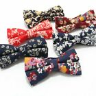 Adjustable Mens 100% Cotton Bow Tie Floral Flower Bowties Wedding Casual Bowknot
