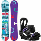 Burton Snowboard set ICS Feather Snowboard + Citizen Binding Damen Snowboard