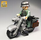Custom WW2 armed car combat vehicle jeep motorcycle tank artillery +lego brick
