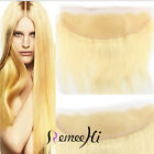 """8""""-20"""" Straight Brazilian TOP Lace Frontal Closure 613# Blonde Human Hair 13X4"""""""