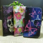 Fly Butterfly Skull Flower Wallet Pouch Stander flip case cover for HTC Phone