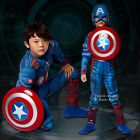 Captain America Kinder Jungen Cosplay Kostüm Jumpsuit / Shield / Maske / Socken