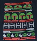 Licensed Star Wars Holiday Christmas T-Shirt Boba Fett R2D2 Ugly Sweater Tee